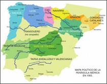 Mapa politico Iberico