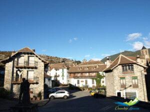 La población de Hecho, en Huesca