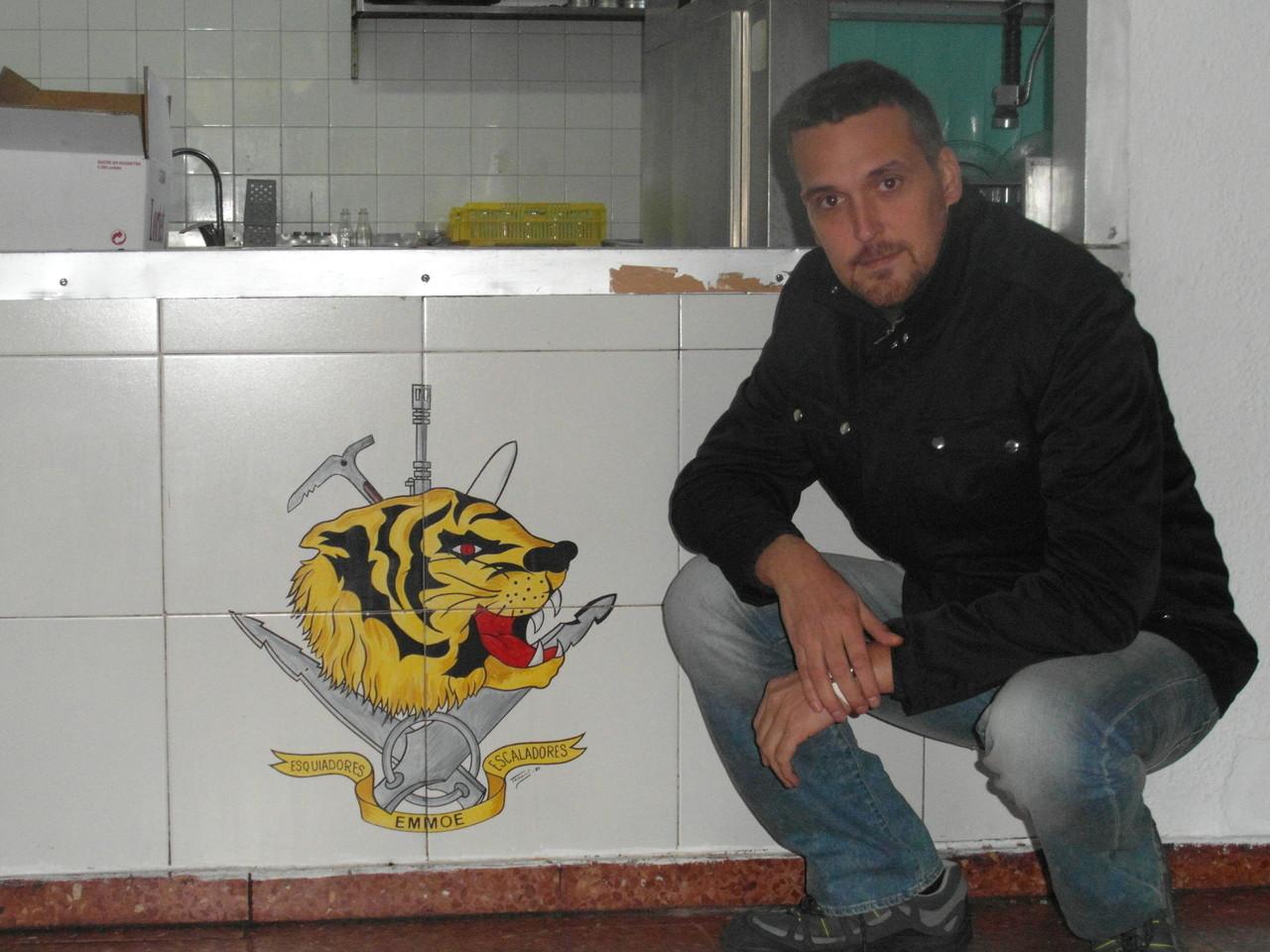 Dos Tigres, detalle en azulejos comedor