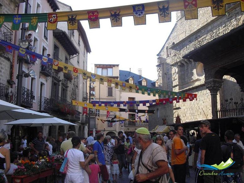 Animación en las calles de Jaca.