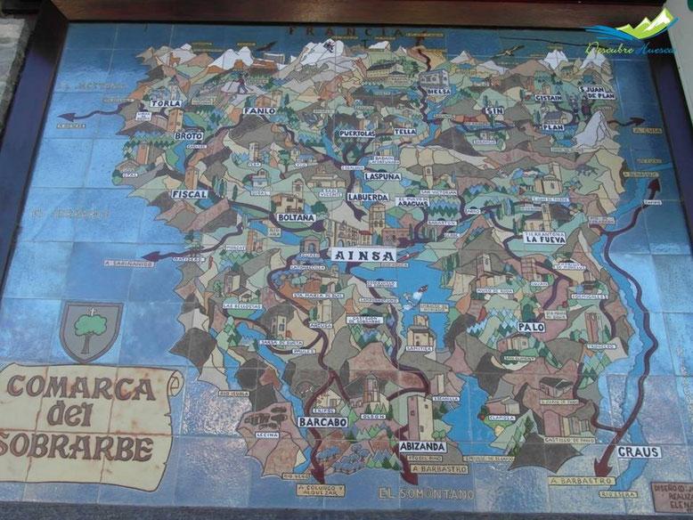 Mapa del Sobrarbe.