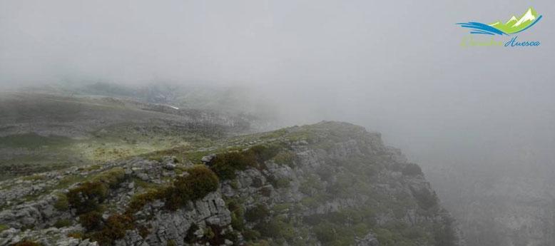 Vistas desde cima Mondoto, en un mal día...